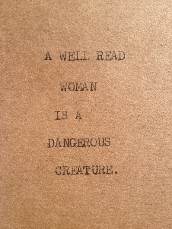 A WELL READ WOMAN Typewriter quote on 2.5 x 5 by WritersWire, $4.00