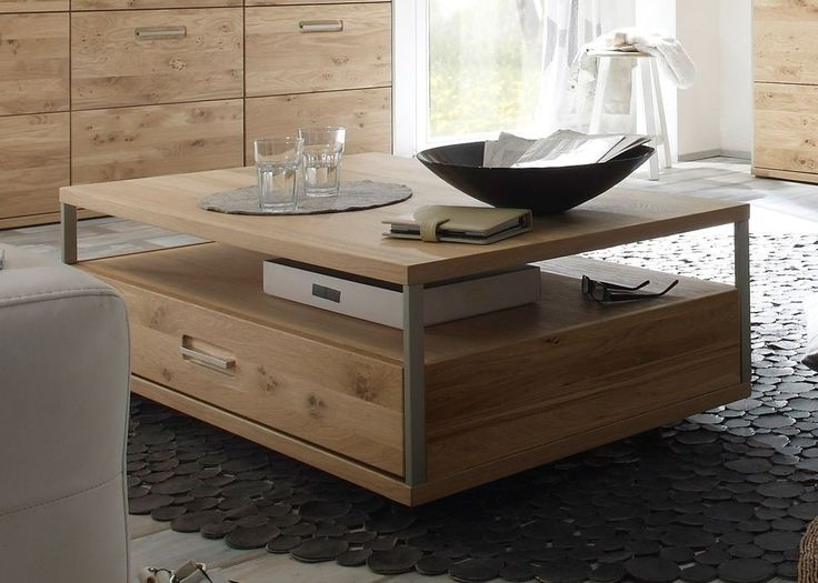 Couchtisch Eiche Espero Wohnzimmertsich Holz Asteiche Furniert