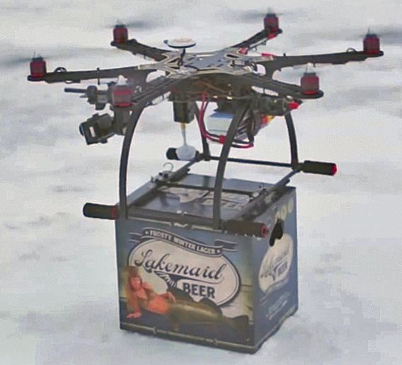 Drones may be the new way you get your beer.