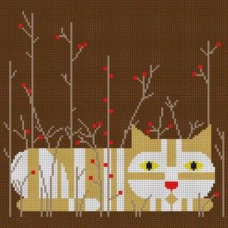click here to view larger image of Calendar Cat  - Autumn (18m) (hand painted canvases)