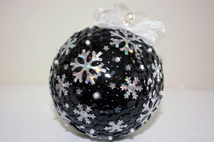 Sequin ornament ball Christmas ornament   Christmas by MyArteasure, $20.00