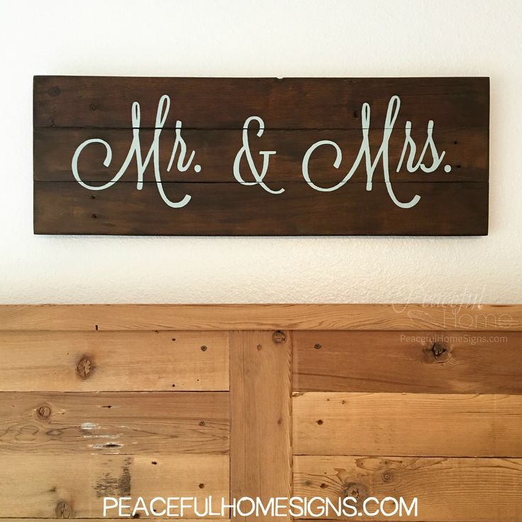 Mr & Mrs | Sign for Master bedroom | Large sign over a bed | Valentines Gift | Anniversary Gift | Reclaimed Wood | Modern Rustic | Farmhouse