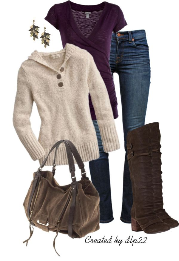 Love this comfy fall look