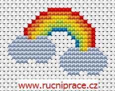 Rainbow, free cross stitch patterns and charts - www.free-cross-stitch.rucniprace.cz