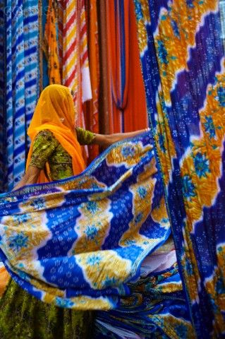 Sari is a traditional woman wear in India...it comes in many colors, patterns and materials but it is always very feminine and elegant. Visit Sari factories and markets with boutique tour organizer Nomaday travel: www.nomadaytravel.com