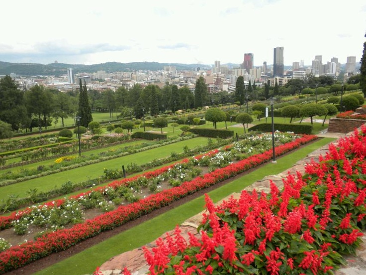 the beautiful grounds of the union buildings in pretoria, south africa...