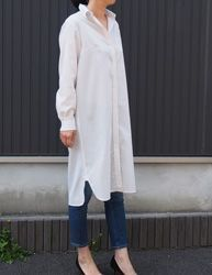 Shirt Dress | Another cool Japanese sewing pattern. Learn to sew them at www.japanesesewingpatterns.com