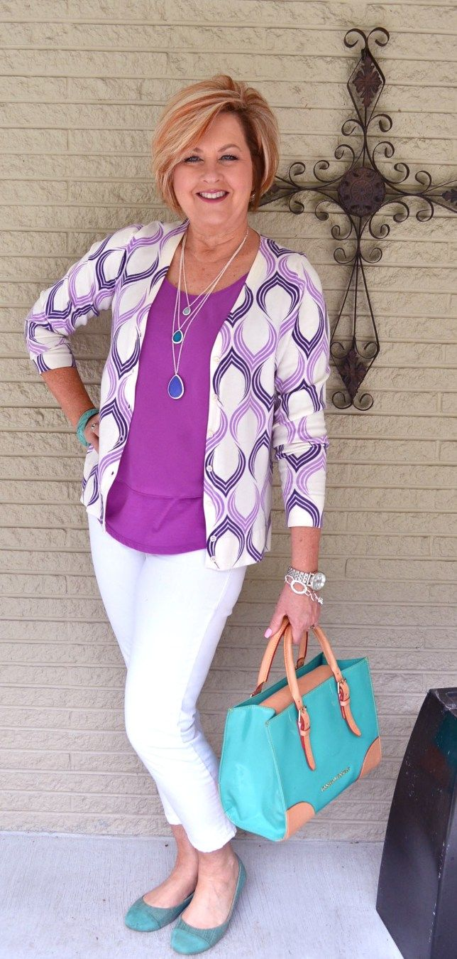 50 IS Not Old | All Things Purple | Violet & Turquoise | Fashion over 40 for the everyday woman.
