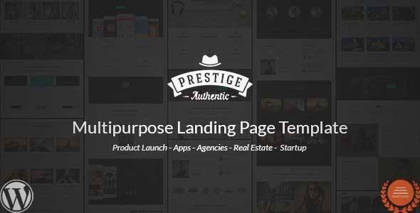 Download and review of Prestige - Multi Purpose WordPress Landing Pages, one of the best Themeforest Corporative themes