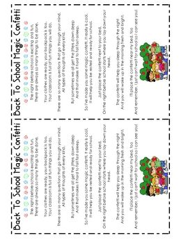 A fun way for anxious students to not be so nervous about the first day back to school!...Classroom, Schools Ideas, Auguste September, Letters Confettipdf, Letters Confetti Pdf, Teaching Ideas, Schools Confetti, Schools Years, Welcome Letters