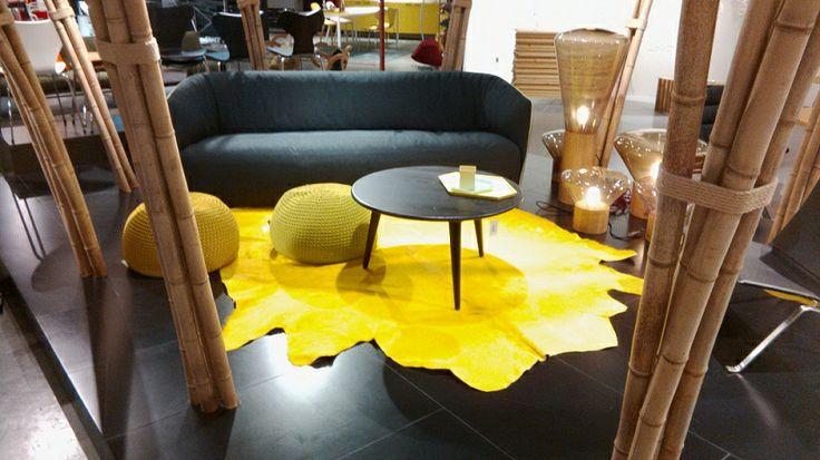 peau de vache jaune yellow cowhide true colors. Black Bedroom Furniture Sets. Home Design Ideas
