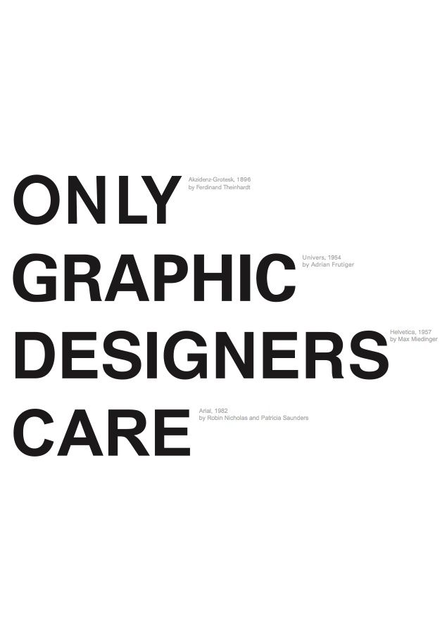 4 different typefaces, only a graphic designer would notice - i want this in poster form