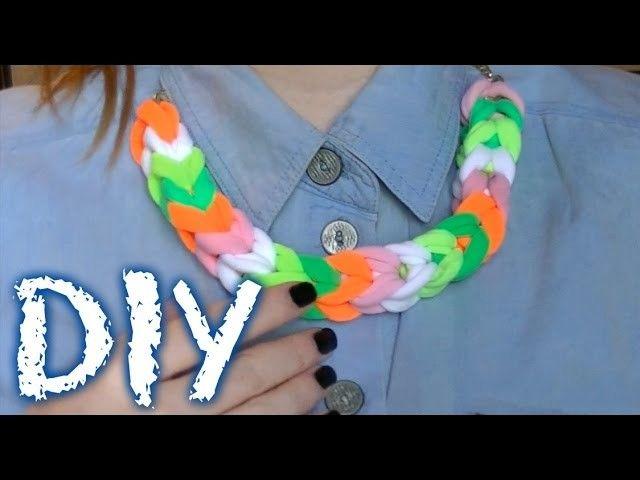 DIY. Своими руками. Ожерелье из резинок для волос
