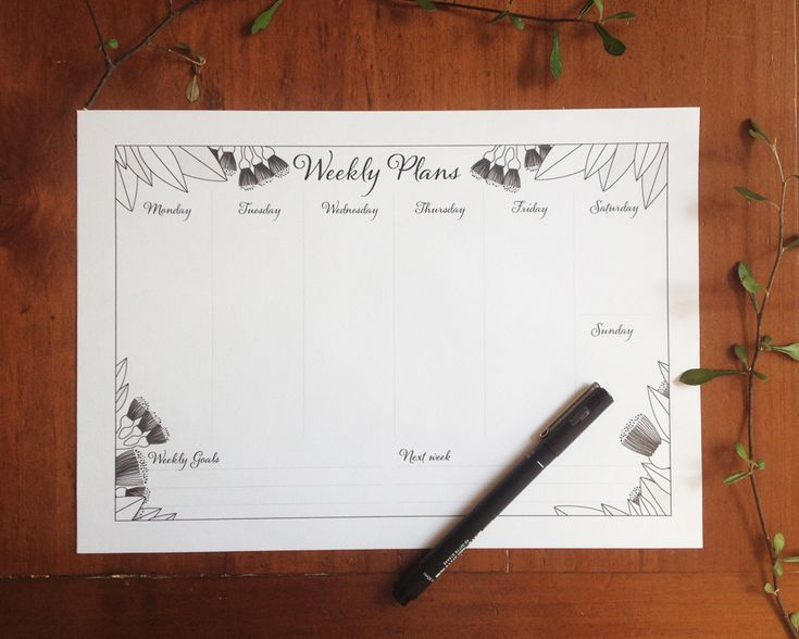 Pohutukawa planner with pen