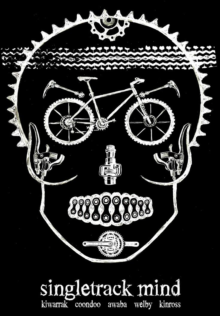Pencil on paper tee shirt design for the brilliant Single Track MTB race series run by ChocolateFoot. http://www.chocolatefoot.com.au/