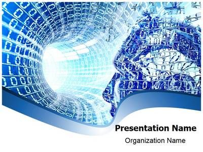 Future Technology Abstract PowerPoint Template, Backgrounds 14074