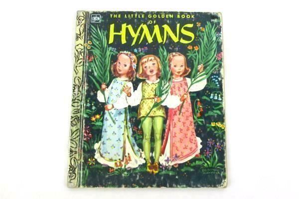 Vintage Children's Little Golden Book of HYMNS…