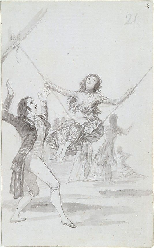 *The Swing* Goya (Francisco de Goya y Lucientes) (Spanish, Fuendetodos 1746–1828 Bordeaux)