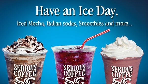 Have an Ice Day! At a Serious Coffee near you.
