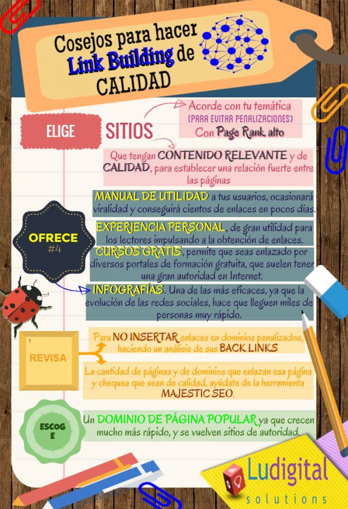 Consejos Para Hacer Link Building #infografia #infographic #LinkBuilding