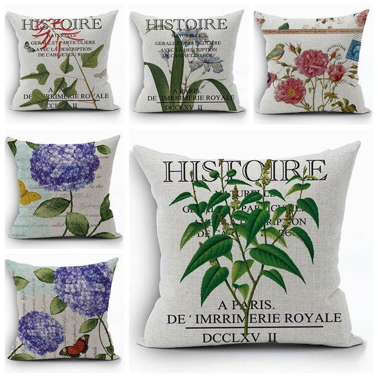 Cheap cushion cover, Buy Quality funda cojin directly from China cushion cover vintage Suppliers: purple hydrangea cushion cover vintage country plant fundas cojines european home decor flower almofada floral throw pillow case