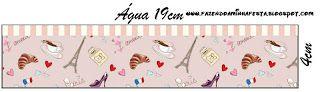 Imprimibles París Romántico 3. PARA BOTELLAS DE AGUA