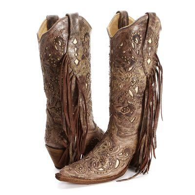 BootDaddy Collection with Corral Fringe Cowgirl Boots|All Womens Western Boots