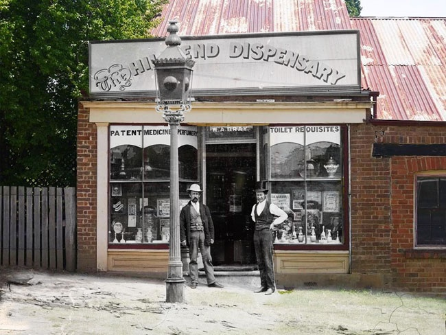 Hill End, NSW, Australia--combination of photos from 1872 and 2012