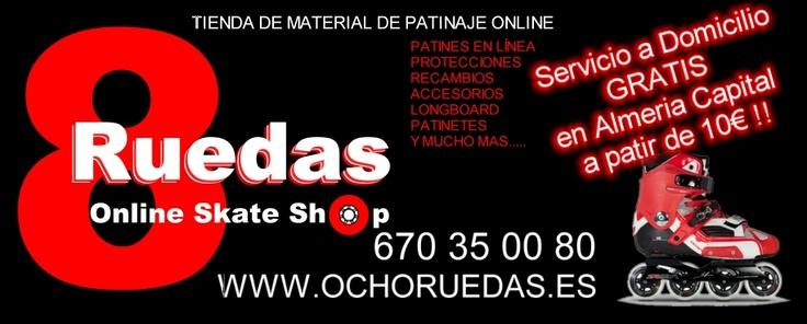 Tienda de material de patinaje online en #Almeria  anuncios gratis en Internet #publicidad #negocios #España