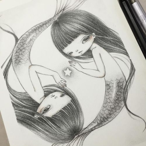 Completed image of Pisces girls☺️💓 And happy... - YiShu Wang