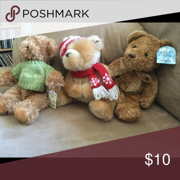 Teddy bear bundle 3 small teddy bears in a bundle. Very cute for your child or a collector Unlisted Other