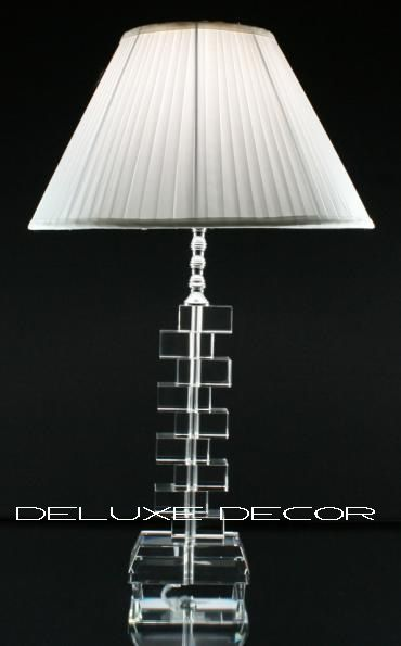 Modern Stylish Crystal Glass Table Bedside Lamp 9214 T/W http://deluxedecor.com.au/products-page/table-lamps/modern-stylish-crystal-glass-table-bedside-lamp-9214-tw/