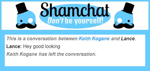A conversation between Lance and Keith Kogane
