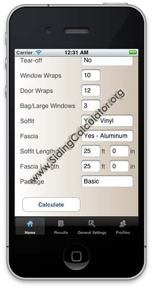 Siding Calculator PRO app for iPhone  Made for siding contractors, this app helps estimate and do a take-off on any siding job for Vinyl, Cedar, Hardie and aluminum siding jobs: http://itunes.apple.com/us/app/siding-calculator/id474394405?mt=8
