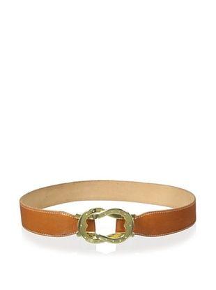 60% OFF J. McLaughlin Women's Gold Ring Crossover Belt (Brown)