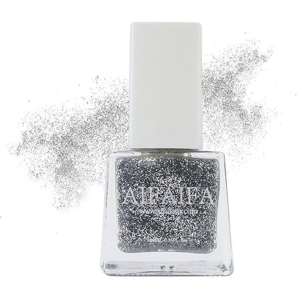 Aifaifa Water Base Nail Polish Dance Series D05 (Glitter Silver) (32 PEN) ❤ liked on Polyvore featuring beauty products, nail care and nail polish