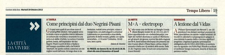 Corriere della Sera 28 ottobre: #seminari13 #civiltà