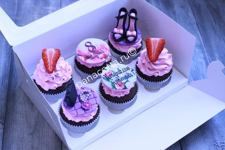 Капкейки на 8 марта с туфельками #cupcake #cupcakes #cupcakeshoes #капкейки #капкейк
