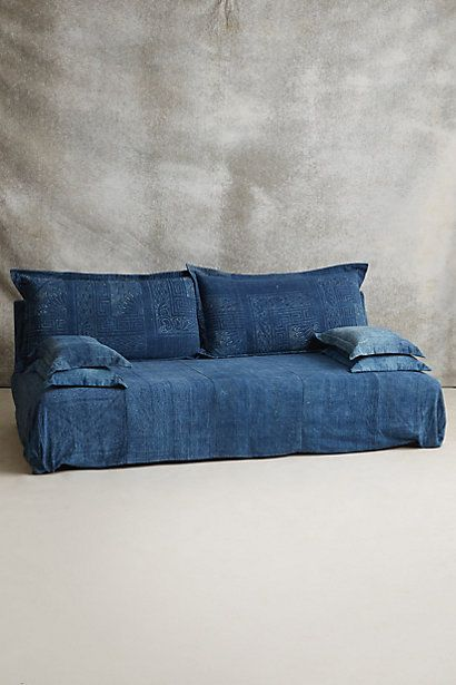 Reverse-Dyed Batik Sofa - anthropologie.com Im so doing this right now