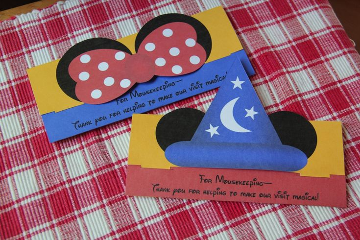 """Printable Mousekeeping Tip Envelope For Your Next Disney Trip! - A """"magical"""" way to say """"Thank You"""" to the folks who help make your stay even more pleasant!"""