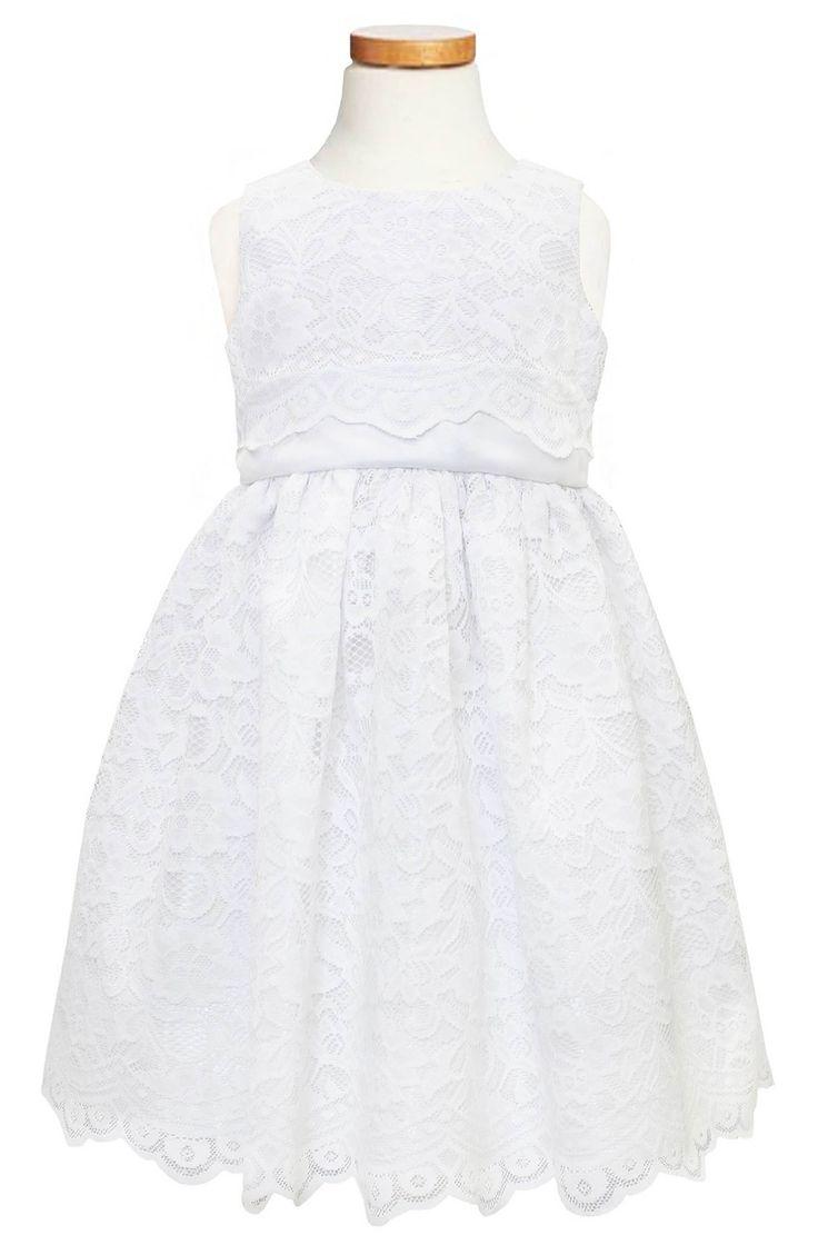 Main Image - Sorbet Scallop Lace Dress (Toddler Girls & Little Girls)