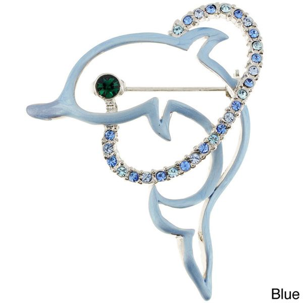 Blue Dolphin Pin Animal Pin Brooch