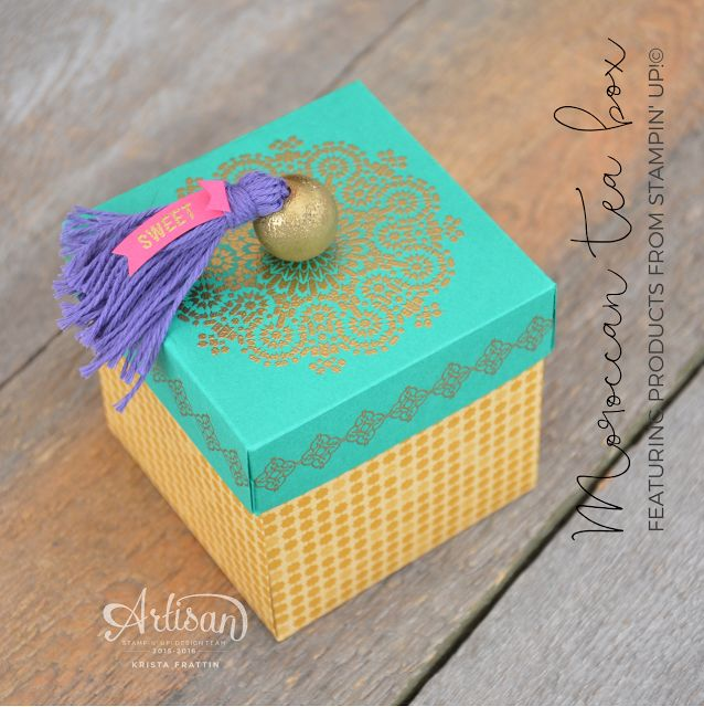 Stampin' Dolce: Moroccan Tea Box - Artisan Design Team Blog Hop