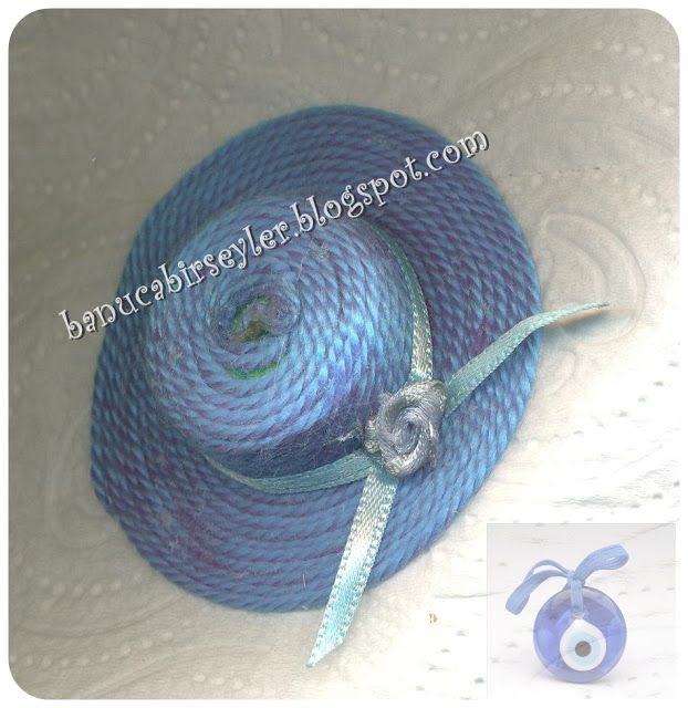 a plastic bottle cap and a piece of wool :)