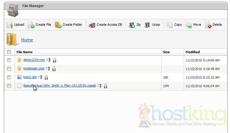 How to use File Manager in WebsitePanel