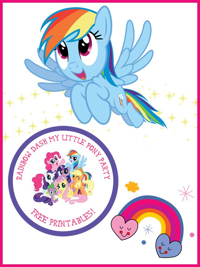 Free My Little Pony Printables featuring Rainbow Dash! Great for a My Little Pony birthday party, or just to print for the MLP lovers in your house.