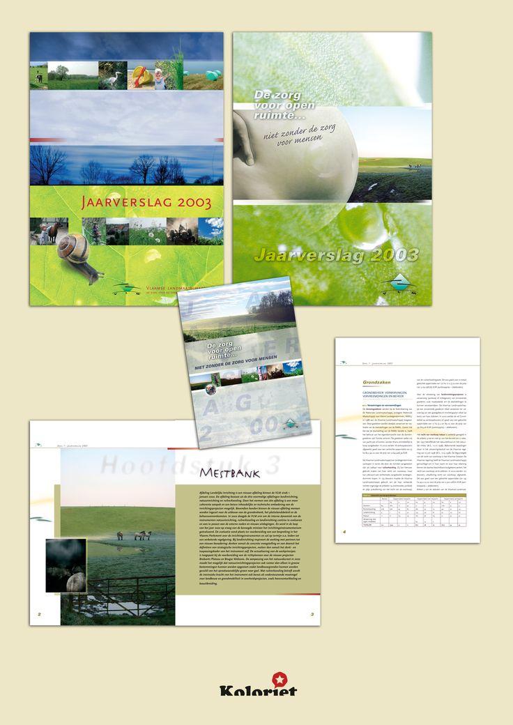 """Jaarverslag ontwerp """"Vlaamse Land Maatschappij"""" door Koloriet - Danni Elskens"""