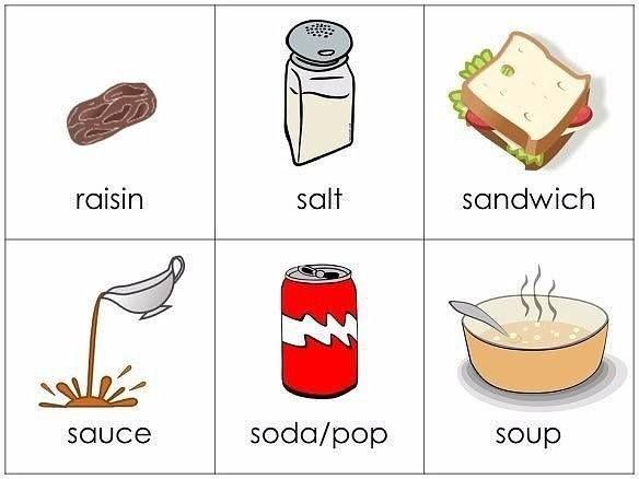 картинки еды для распечатки для английского создали пространство