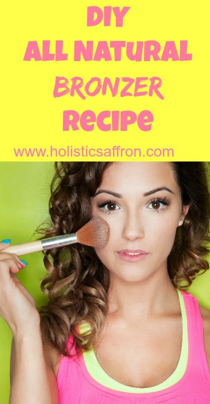 DIY All Natural Bronzer Recipe [Note to self: substitute arrowroot powder for cornstarch]
