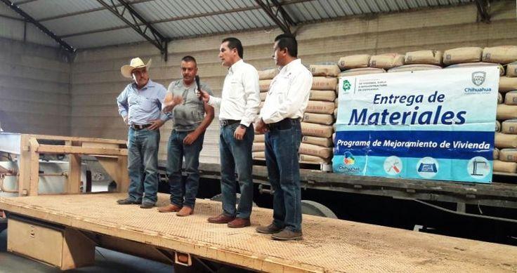 Arranca COESVI entrega de paquetes de cemento en la zona rural